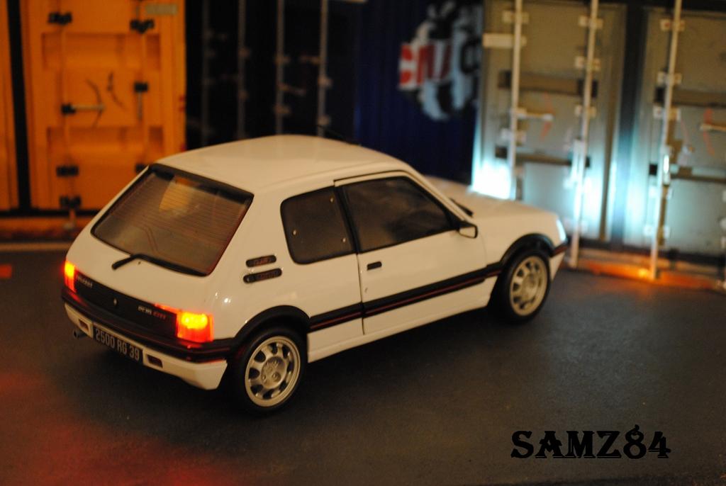 peugeot 205 gti miniature blanche 1 9 led norev 1 18 voiture. Black Bedroom Furniture Sets. Home Design Ideas