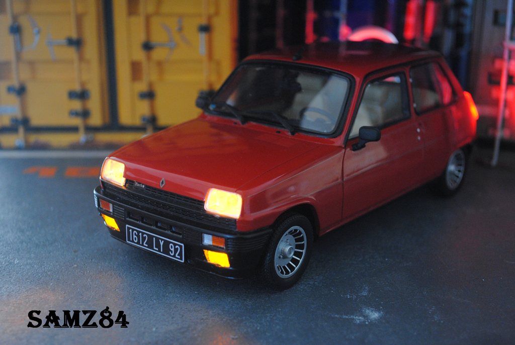 Renault 5 Alpine Turbo rot LED tuning Ottomobile. Renault 5 Alpine Turbo rot LED modellauto 1/18