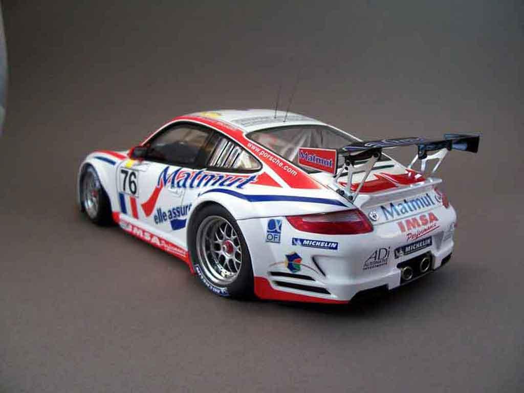 Porsche 997 GT3 RSR 2007 76lm07 Autoart. Porsche 997 GT3 RSR 2007 76lm07 DTM miniature modèle réduit 1/18