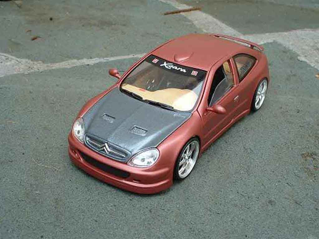 Miniature Citroen Xsara tuning tuned up tuning Solido. Citroen Xsara tuning tuned up miniature 1/18