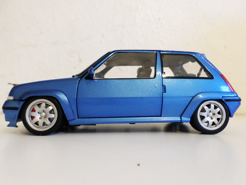 Renault 5 GT Turbo 1/18 Norev jantes speedline 15 pouces bleu