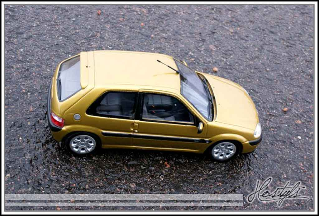 Citroen Saxo 1/18 Ottomobile vts yellow heliodor