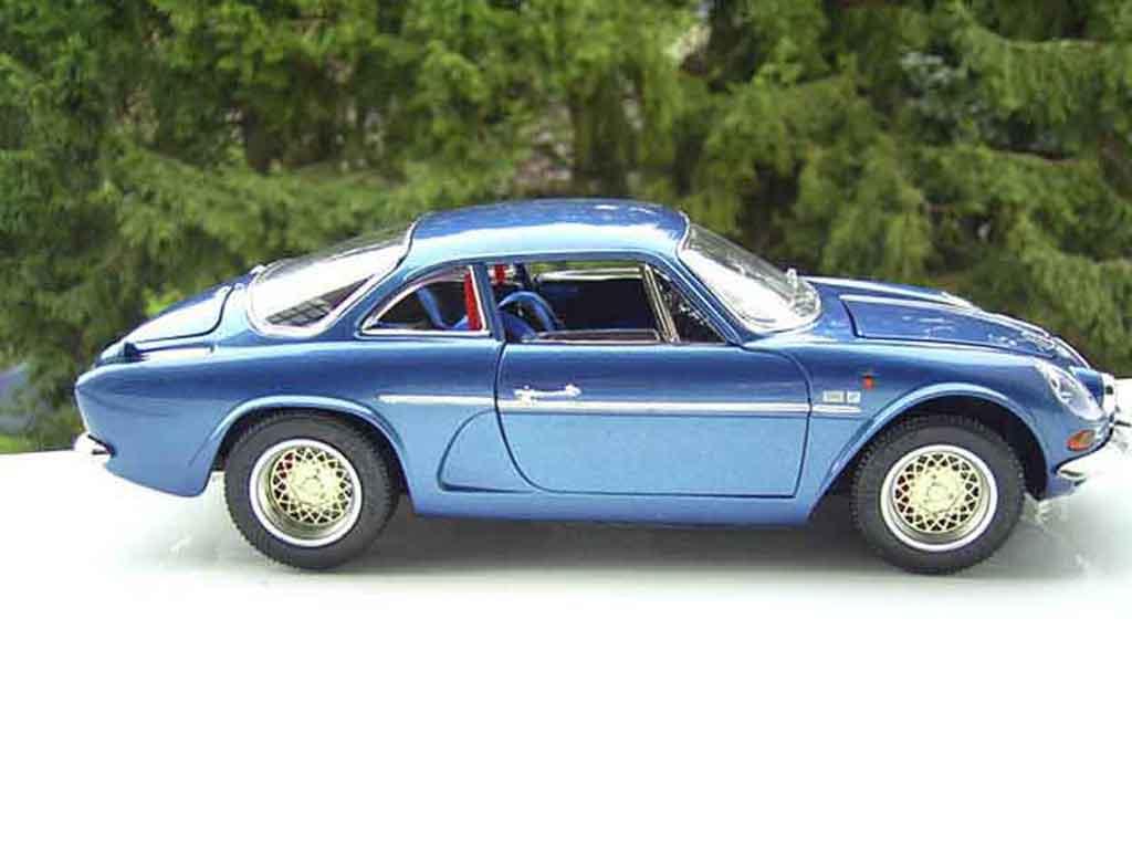 renault alpine a110 blau felgen bbs burago modellauto 1 18. Black Bedroom Furniture Sets. Home Design Ideas