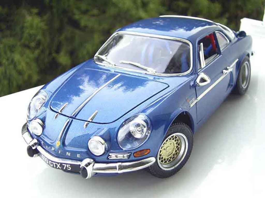 Alpine A110 1/18 Burago blue jantes bbs tuning diecast model cars