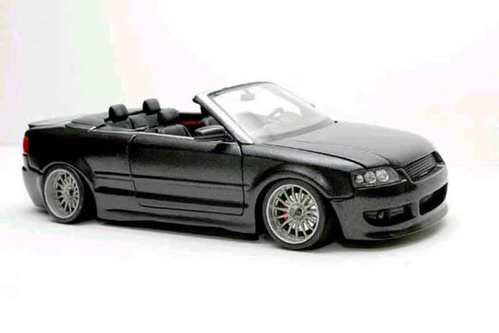 Audi A4 cabriolet 1/18 Welly v6 3l german look negro tuning coche miniatura