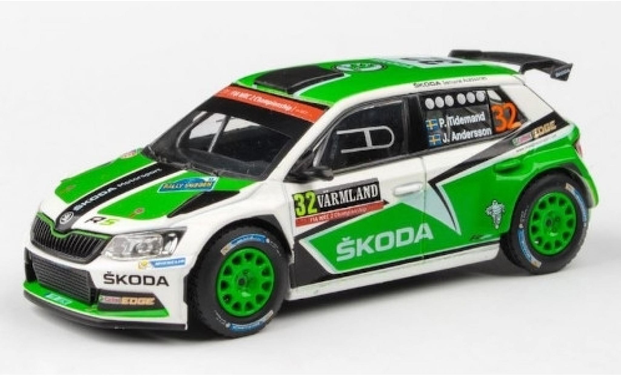 Skoda Fabia 1/43 Abrex III R5 No.32 Rallye WM Rallye Schweden 2016 P.Tidemand/J.Andersson
