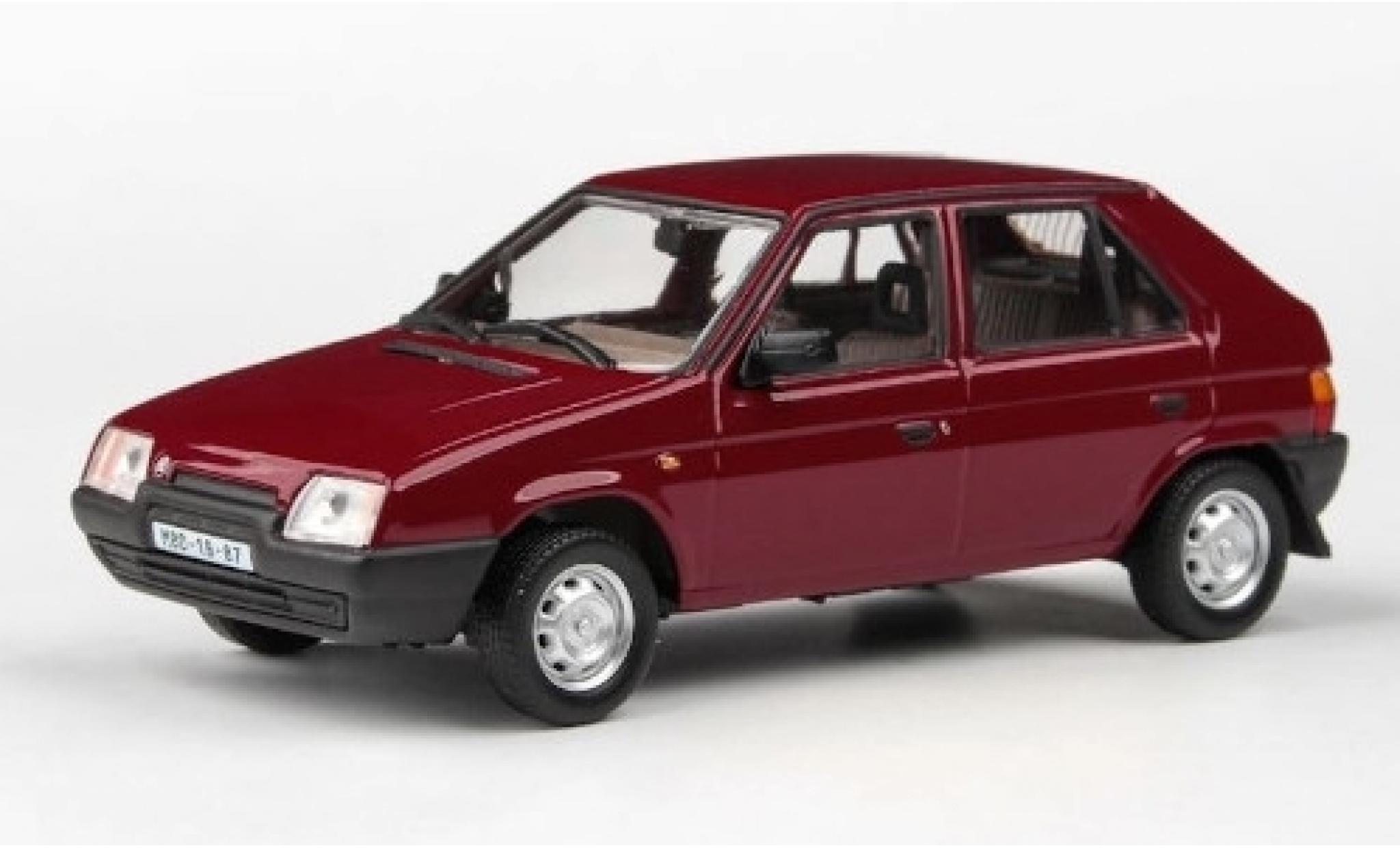 Skoda Favorit 1/43 Abrex 136L rouge 1988
