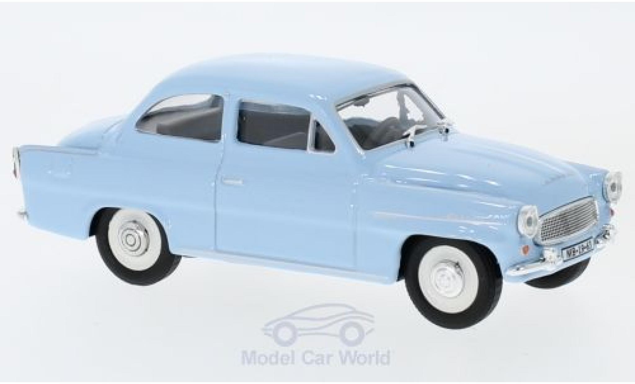 Skoda Octavia 1/43 Abrex bleue 1963