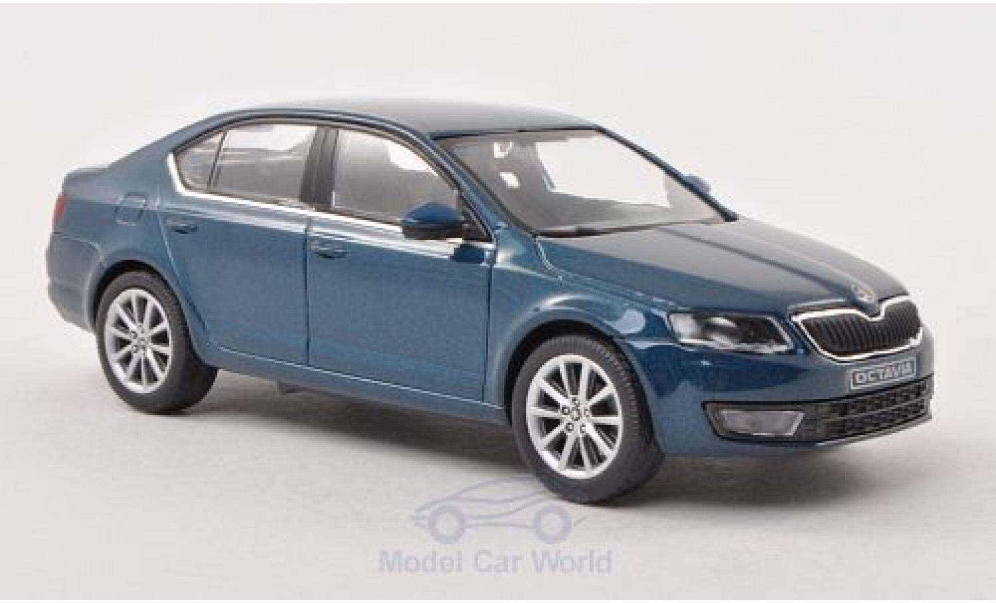 Skoda Octavia 1/43 Abrex III metallise bleue 2013