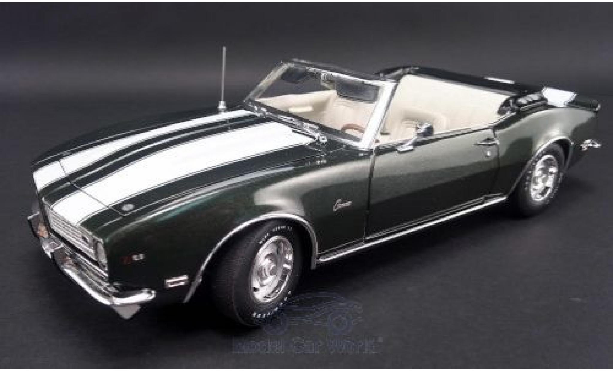 Chevrolet Camaro 1/18 ACME Z/28 Convertible métallisé verte/blanche 1968