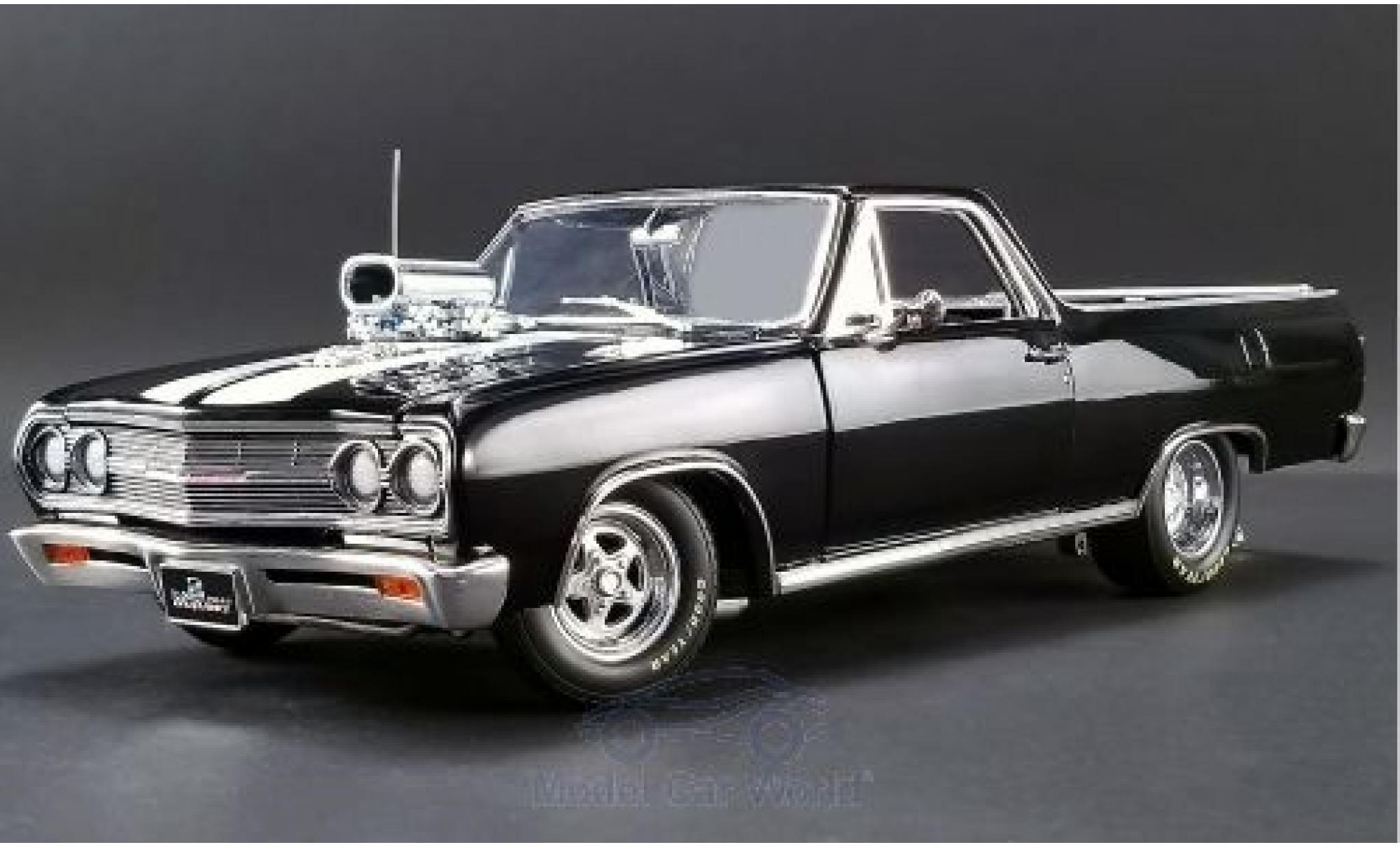 Chevrolet El Camino 1/18 ACME Drag Outlaw noire/blanche 1965