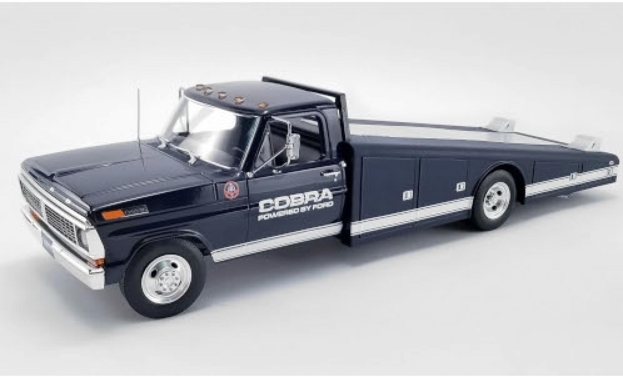 Ford F-350 1/18 ACME Ramp Truck bleue/blanche Shelby Cobra 1970 Powered by