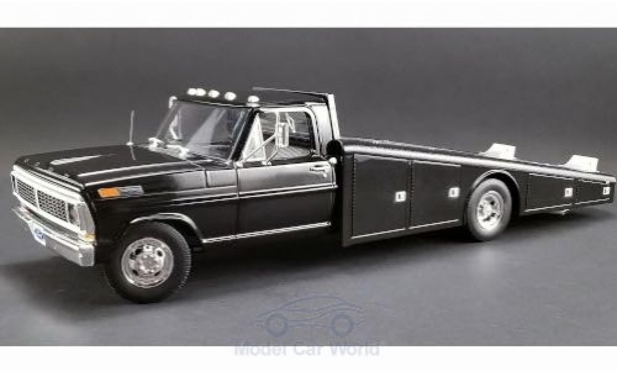 Ford F-350 1/18 ACME Ramp Truck noire 1970