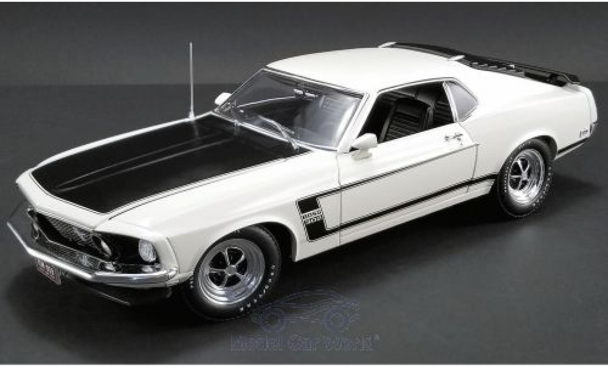Ford Mustang 1/18 ACME Boss 302 beige/noire 1969