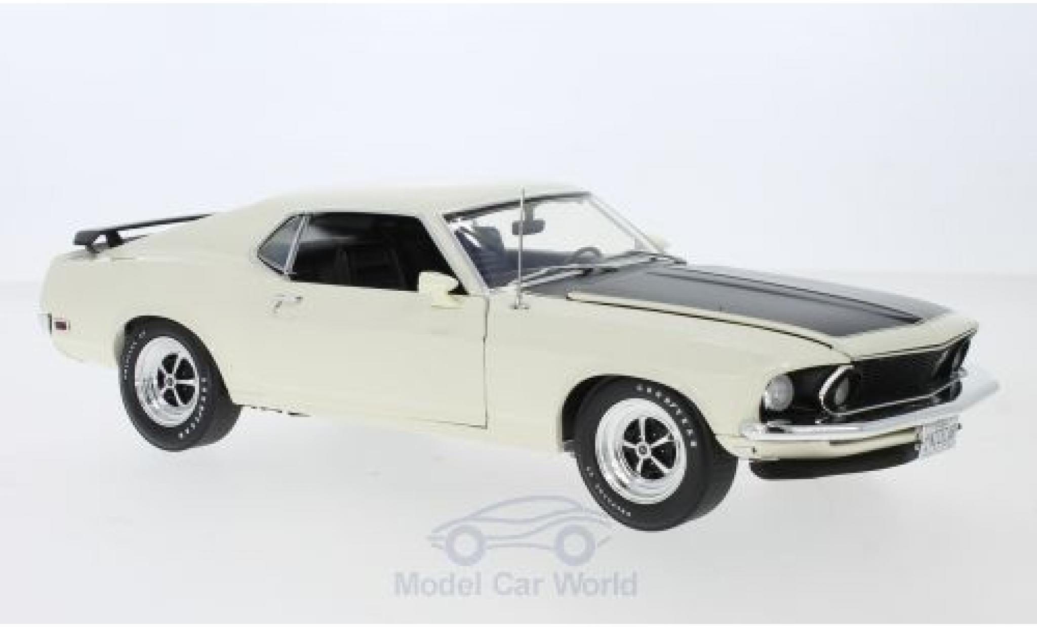 Ford Mustang 1/18 ACME Boss 302 blanche/matt-noire 1969