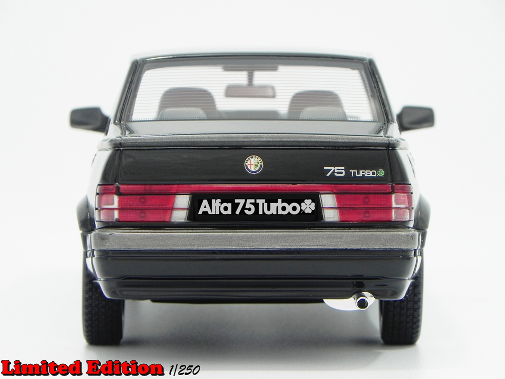 alfa romeo 75 1 8 turbo q v lm087a black laudoracing models diecast model car 1 18 buy sell. Black Bedroom Furniture Sets. Home Design Ideas