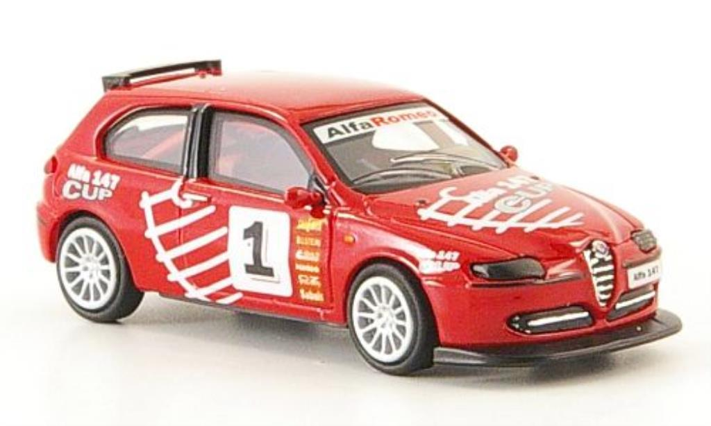 Alfa Romeo 147 1/87 Ricko Cup Version No.1 rouge 2001 miniature