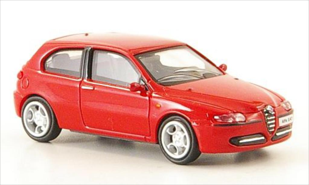 alfa romeo 147 miniature rouge 2001 ricko 1 87 voiture. Black Bedroom Furniture Sets. Home Design Ideas