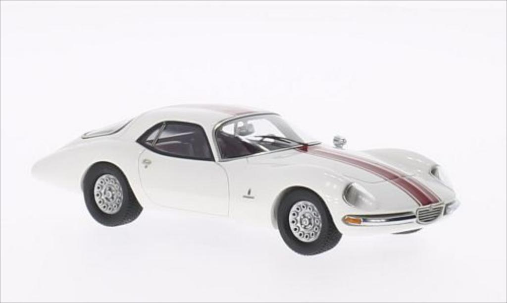 Alfa Romeo 1600 TZ2 Coupe Pinninfarina white mit reden Streifen 1965 Kess. Alfa Romeo 1600 TZ2 Coupe Pinninfarina white mit reden Streifen 1965 miniature 1/43