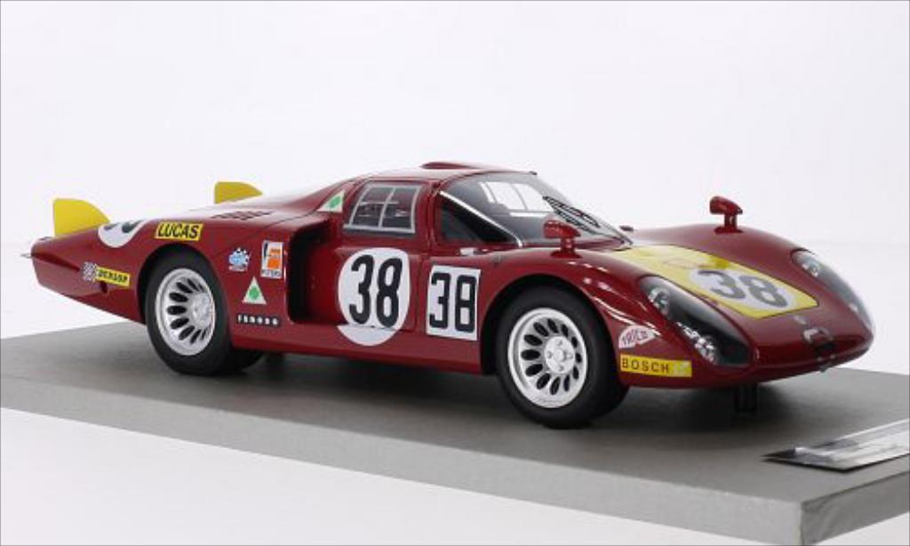 Alfa Romeo 33.2 Coda Lunga No.38 Autodelta 24h Le Mans 1968 /S.Dini Tecnomodel. Alfa Romeo 33.2 Coda Lunga No.38 Autodelta 24h Le Mans 1968 /S.Dini modellini 1/18