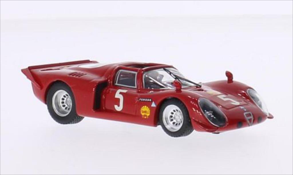Alfa Romeo 33.2 1/43 Best Spyder No.5 Montlhery 1969 /G.Verrier miniature