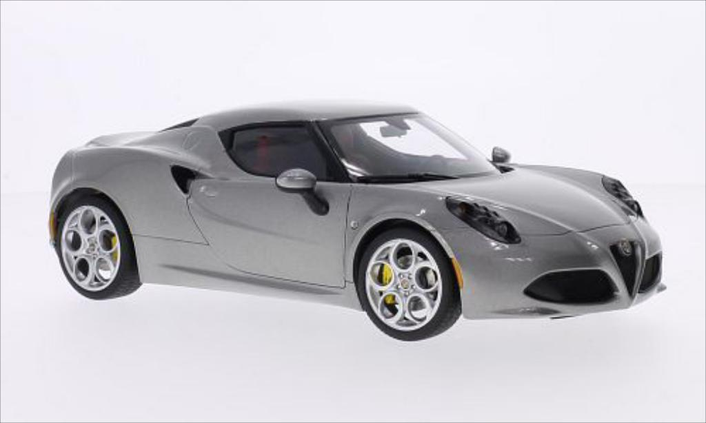 Alfa Romeo 4C 1/18 Autoart metallise grey 2013 diecast model cars