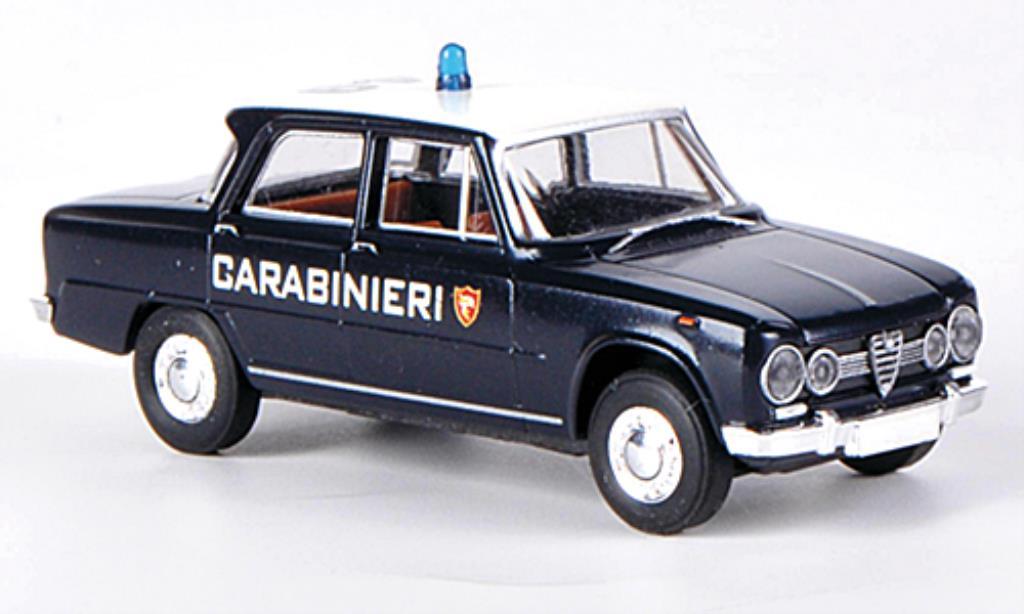 Alfa Romeo Giulia 1600 Carabinieri Brekina. Alfa Romeo Giulia 1600 Carabinieri Police miniature 1/87