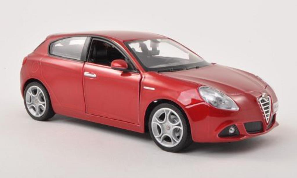 Alfa Romeo Giulietta 1/24 Burago (940) rosso modellino in miniatura