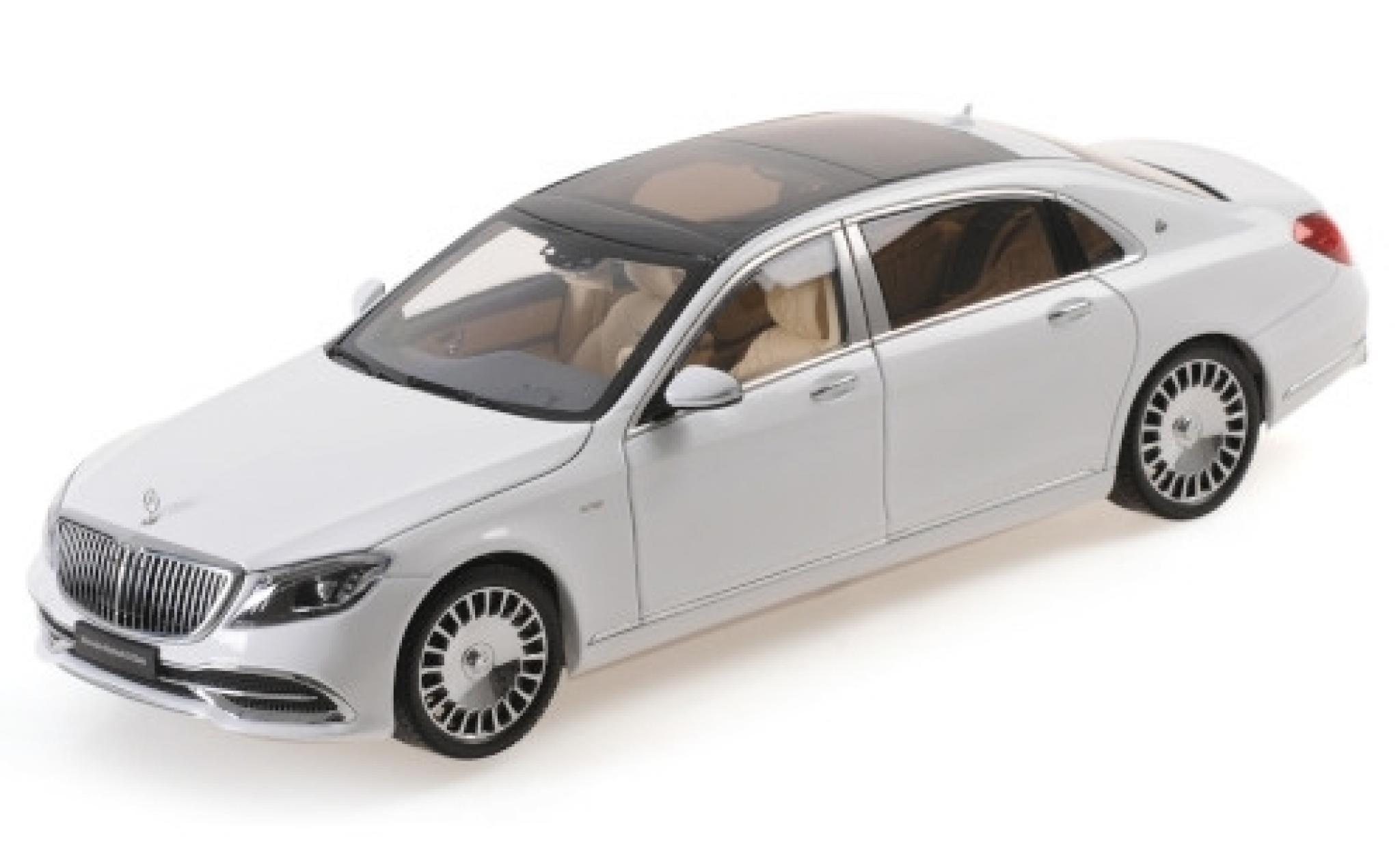 Mercedes CLA 1/18 Almost Real Maybach Classe S metallise blanche 2019