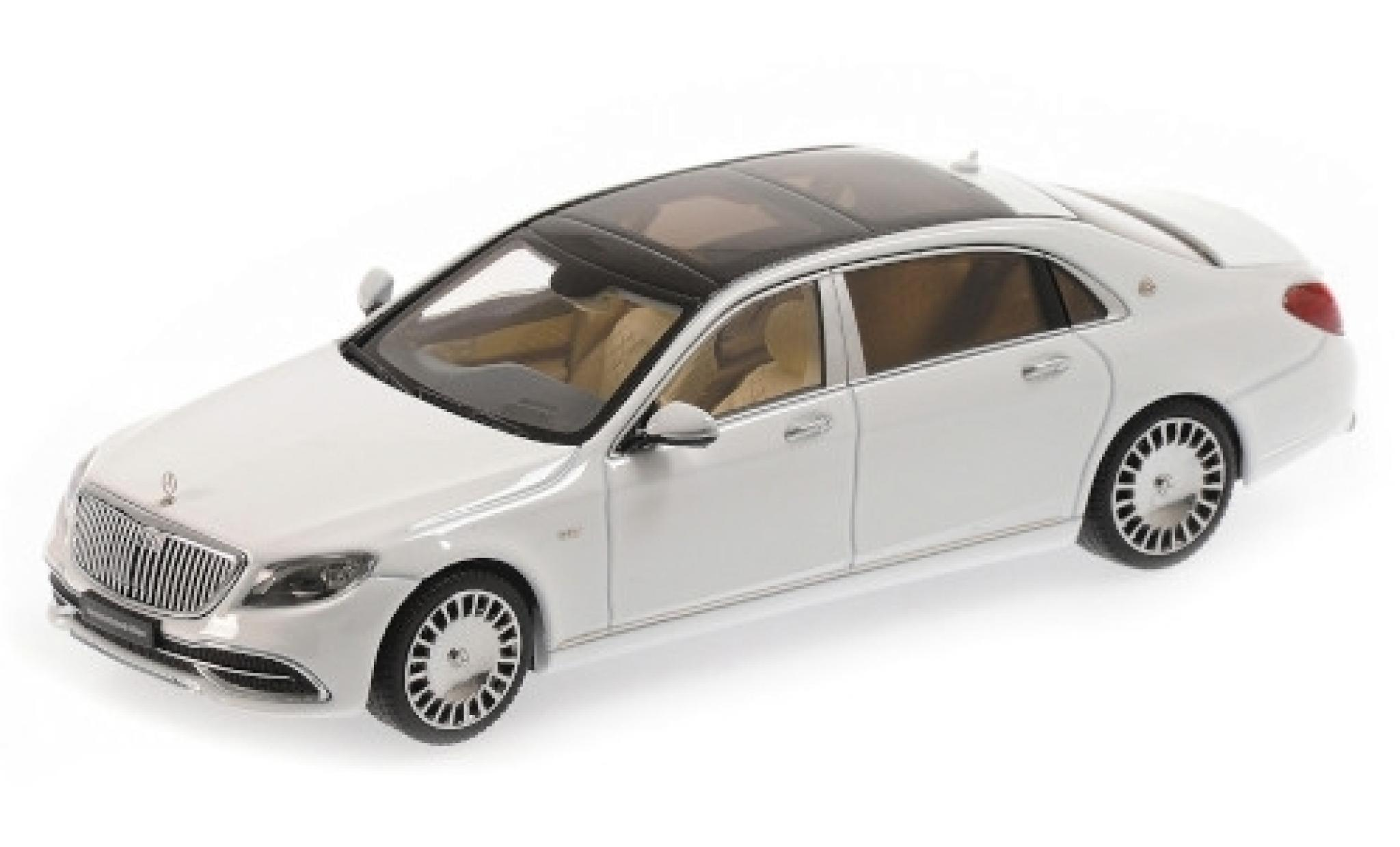 Mercedes CLA 1/43 Almost Real Maybach Classe S blanche 2019