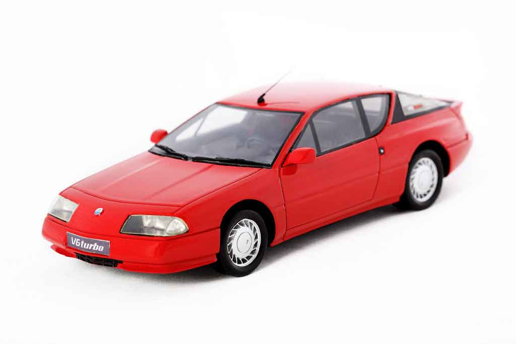 Alpine GTA V6 turbo 1/18 Ottomobile 1990 roja miniatura