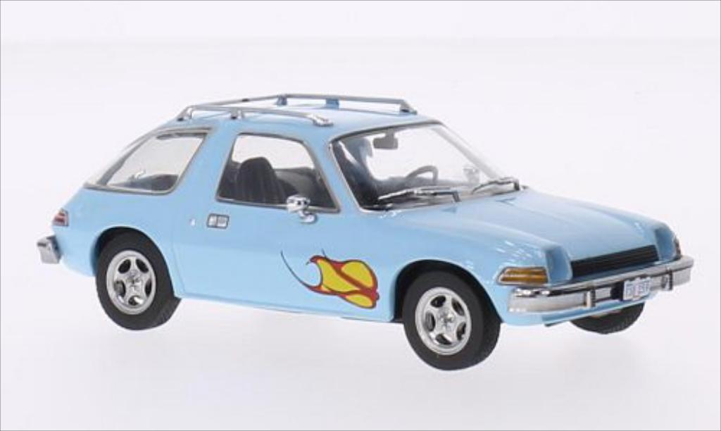 AMC Pacer 1/43 Greenlight bleu/Dekor 1977 miniature