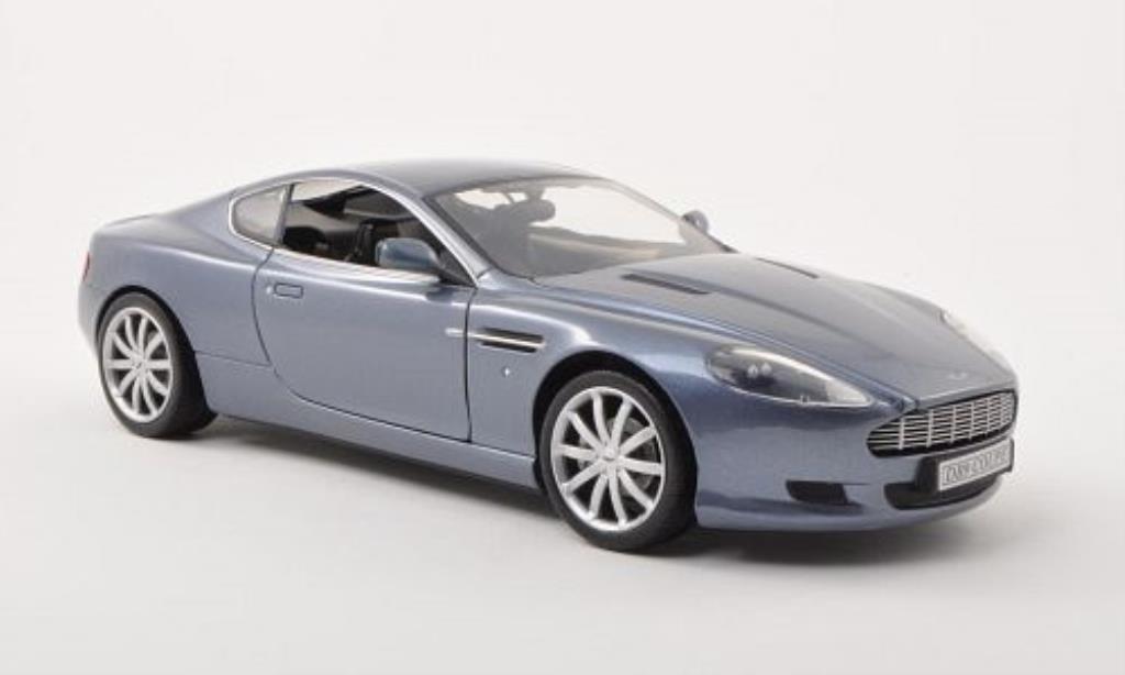 aston martin db9 miniature grise bleu 2006 motormax 1 18 voiture. Black Bedroom Furniture Sets. Home Design Ideas