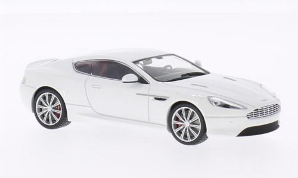 Aston Martin DB9 1/43 Kyosho metallic-blanche 2013 miniature