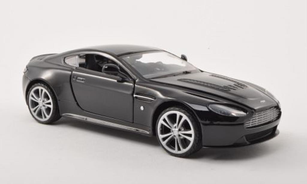 Aston Martin V12 Vantage 1/24 Motormax noire LHD miniature