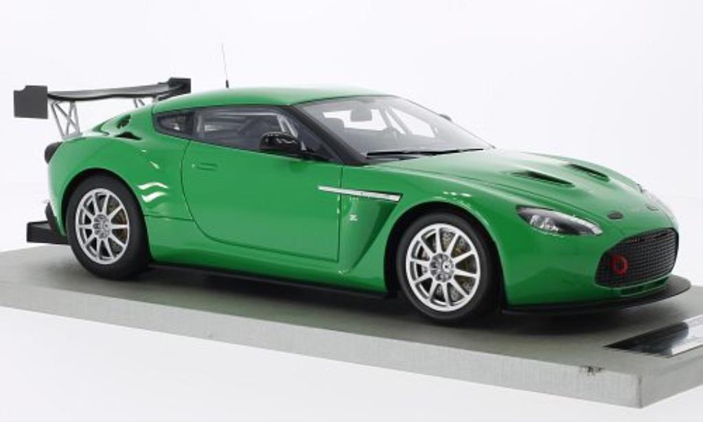 Aston Martin V12 Zagato 1/18 Tecnomodel Press Version grun 2011 miniature
