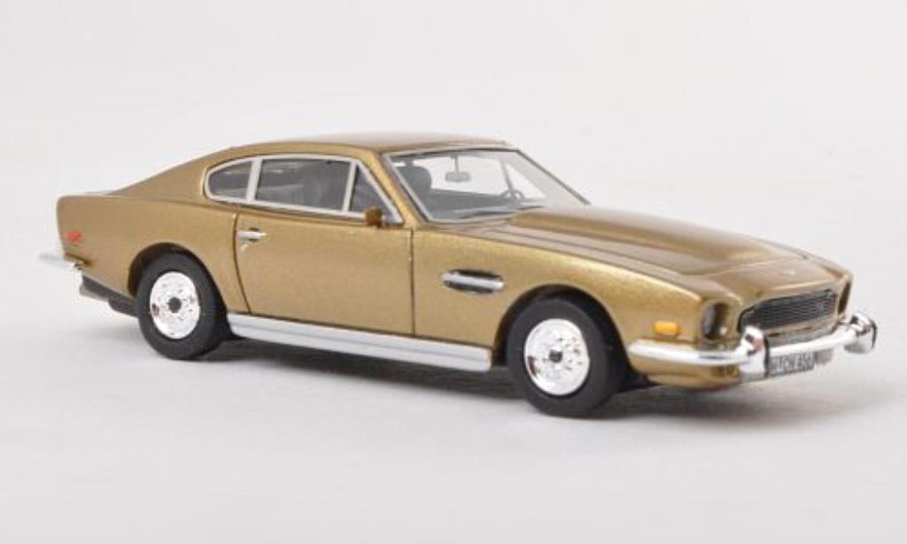 Miniature Aston Martin V8 gold LHD 1980 Neo. Aston Martin V8 gold LHD 1980 miniature 1/87