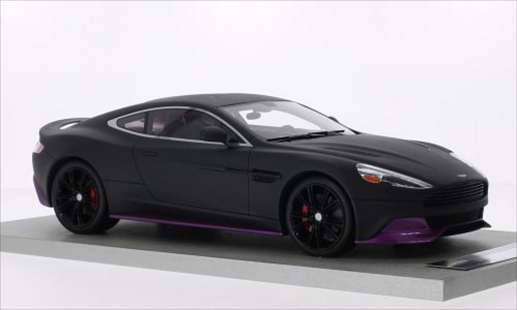 Miniature Aston Martin Vanquish Coupe matt-noire/metallic-lila Tecnomodel. Aston Martin Vanquish Coupe matt-noire/metallic-lila miniature 1/18