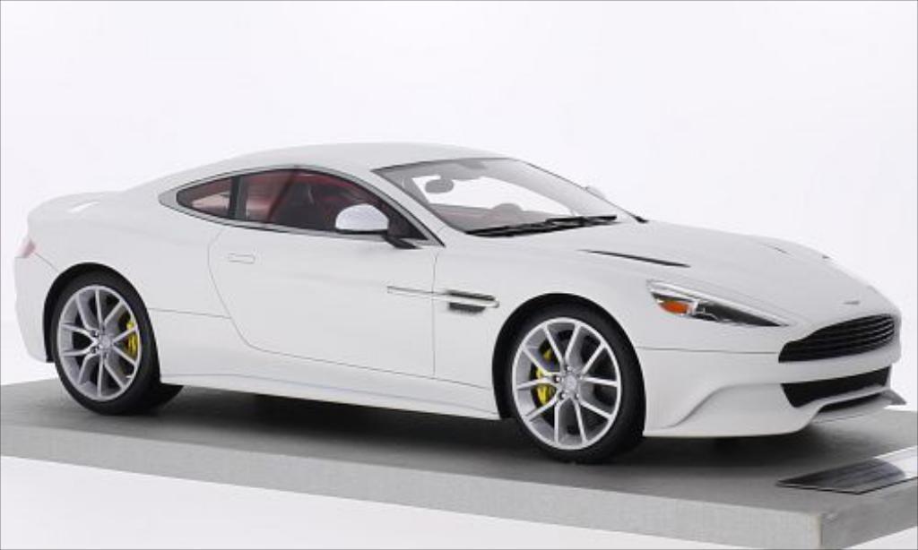 Aston Martin Vanquish 1/18 Tecnomodel Coupe matt-blanche miniature