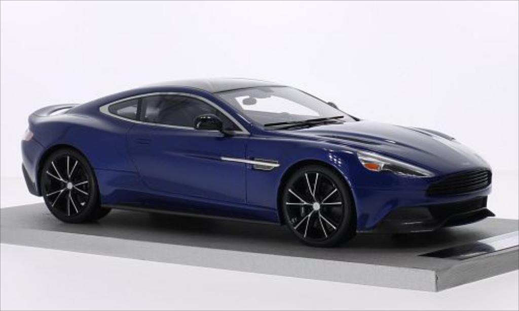Aston Martin Vanquish 1/18 Tecnomodel Coupe metallise bleu miniature