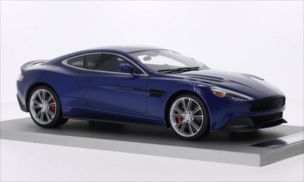 aston martin vanquish miniature coupe metallic bleu tecnomodel 1 18 voiture. Black Bedroom Furniture Sets. Home Design Ideas