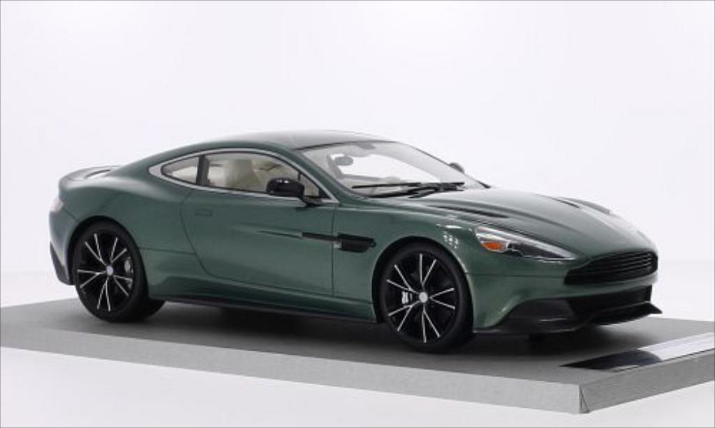 Aston Martin Vanquish 1/18 Tecnomodel Coupe metallise grun/noire miniature