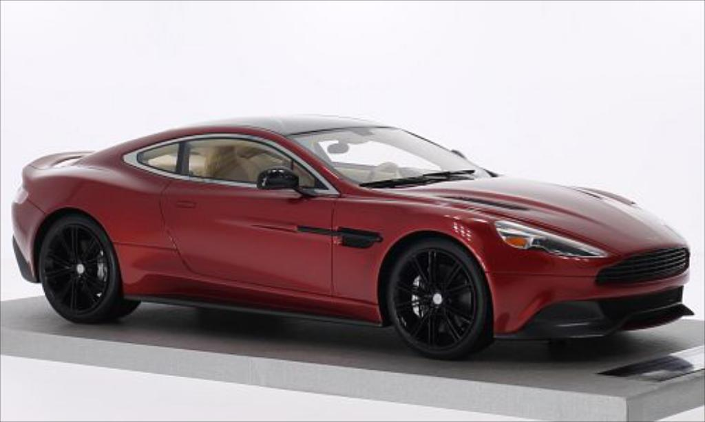 Aston Martin Vanquish 1/18 Tecnomodel Coupe metallic-rouge/carbon miniature