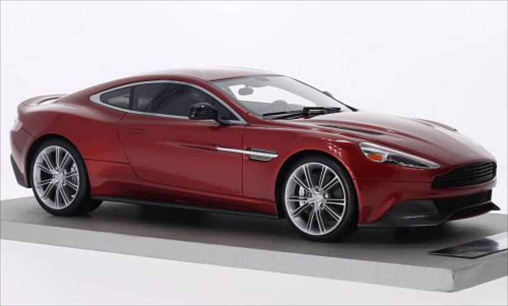 Miniature Aston Martin Vanquish Coupe metallic-rouge Tecnomodel. Aston Martin Vanquish Coupe metallic-rouge miniature 1/18