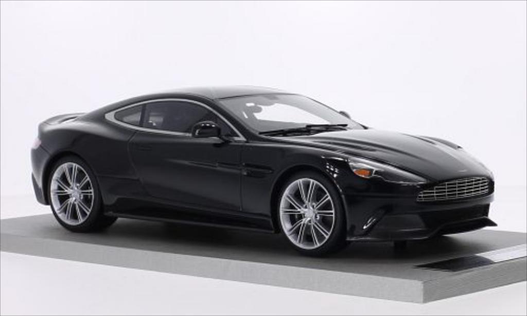 Miniature Aston Martin Vanquish Coupe noire Tecnomodel. Aston Martin Vanquish Coupe noire miniature 1/18