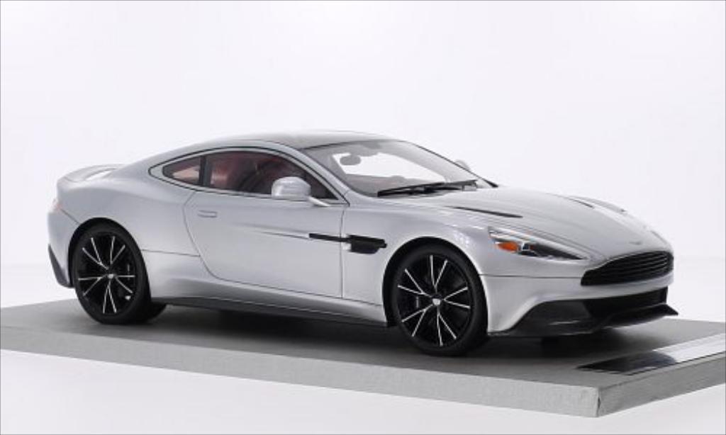 Aston Martin Vanquish Coupe silber/schwarz Tecnomodel. Aston Martin Vanquish Coupe silber/schwarz modellauto 1/18