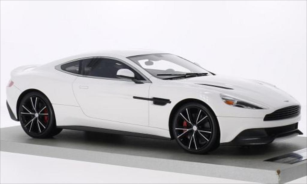 Aston Martin Vanquish 1/18 Tecnomodel Coupe blanche miniature