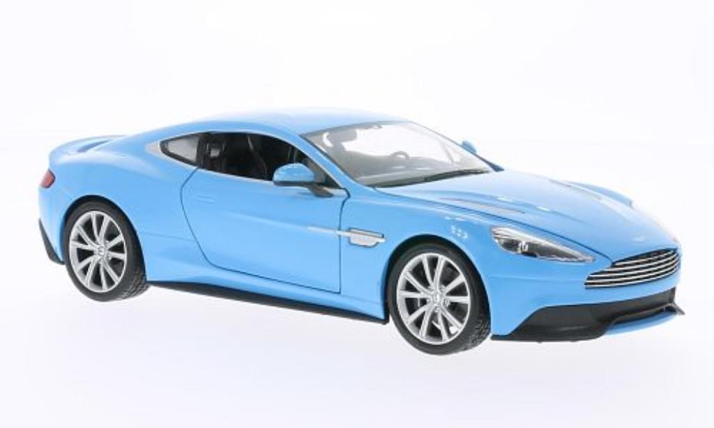 aston martin vanquish miniature bleu welly 1 24 voiture. Black Bedroom Furniture Sets. Home Design Ideas