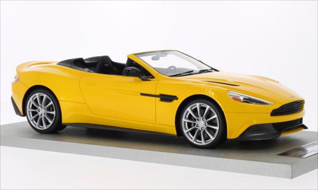 aston martin vanquish volante yellow 2014 tecnomodel diecast model car 1 18 buy sell diecast. Black Bedroom Furniture Sets. Home Design Ideas