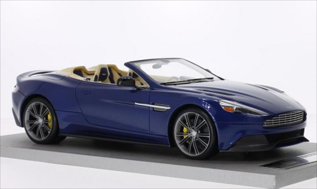 Aston Martin Vanquish 1/18 Tecnomodel Volante metallise bleu miniature